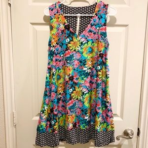 ANTHROPOLOGIE UNCLE FRANK Colorful Tie Dye Dress S